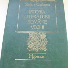 Studiu literar - ISTORIA LITERATURII ROMANE VECHI STEEFAN CIOBANU