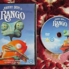 RANGO - filmul cu vocea lui Johnny DEPP 2011 (DVD original din Anglia, in stare impecabila!!!) - Film animatie, Engleza