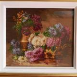 Goblen, crizanteme, dimensiune 32x27cm - Tapiterie Goblen