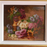 Goblen, crizanteme, dimensiune 32x27cm