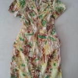 Costum vara deux piece, sacou si fusta, Madame - Costum dama Ma Dame, Marime: 38, Culoare: Galben, Costum cu fusta