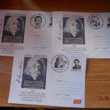 SET 5 PLICURI STAMPILA DIFERITA ANUL INTERNATIONAL ALBERT EINSTEIN 2005