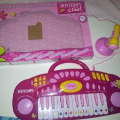 ORGA BONTEMPI CU MICROFON (ROZ) - Instrumente muzicale copii