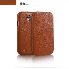 Husa Executive Piele Naturala Samsung Galaxy S4 i9500 by Yoobao Originala Brown - Husa Telefon