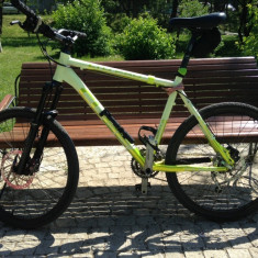 CUBE LTD PRO - Mountain Bike Cube, 20 inch, 26 inch, Numar viteze: 27, Aluminiu, Alb-Verde marin