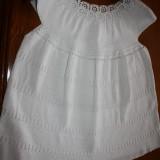 Bluza dama crosetata manual, Marime: Masura unica, Culoare: Alb, Alb, Bumbac