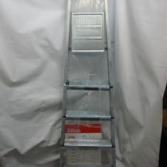 Scara/Schela constructii - Scara aluminiu 4+1 trepte, schele