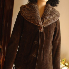 Palton dama, Piele - Cojoc dama din piele naturala/ Haina dama/ Palton/Pardesiu