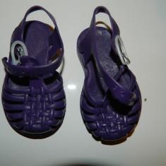 Sandale sandalute de plaja de vara de plastic/cauciuc pentru copii, marimea 19-20 - Sandale copii, Culoare: Mov, Unisex, Mov