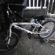 Bicicleta BMX, 12 inch, 20 inch, Numar viteze: 1, Aluminiu, Alb - Bmx freestile