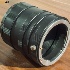 Tub extensie compatibil DSLR Canon din 3 componente (macrofotografie) montura Canon EF EF-S - Adaptor aparat foto Alta