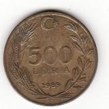 Turcia 500 lire 1989, Europa