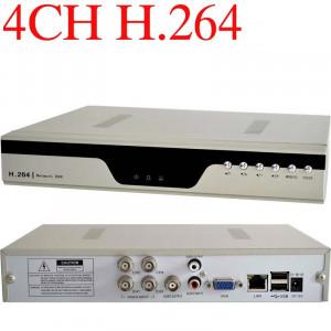 Accesorii cctv DVR CU 4 CANALE compresie H264 Dvr 4 canale H264 accesibil iPhone, iPAD, Android, Blackberry programul EagleEyes Security H.264 CCTV foto