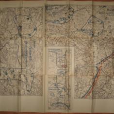 REGATUL ROMANIEI.harta militara cu aplicatii in zona Baraolt, Caciulata, Maerus, 1934