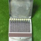 CUTIE DE CHIBRITURI DIN ARGINT - DIMENSIUNI 6 X 5 X 0, 8 CM - GREUTATEA APROX. 30 GRAME - ARGINT MARCAT