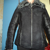 Palton dama - Cojoc blana sintetica