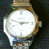 Ceas Orex - 19 rubis - Ceas dama, Elegant, Mecanic-Manual, Inox, Analog, 1970 - 1999