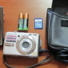 Aparat camera foto panasonic lumix dmc ls 60 . 6 MPix . 3x Zoom optic. 1GB SD Card. acumulator si incarcator, cablu USB . husa piele - Aparat Foto compact Panasonic, Compact, Sub 2.4 inch