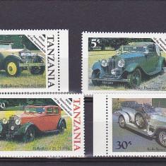 Transporturi, masini vechi, Tanzania. - Timbre straine, Africa de sud