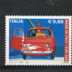 Italia, masini, Fiat 500, 2007, MNH** - Timbre straine, Europa, Transporturi