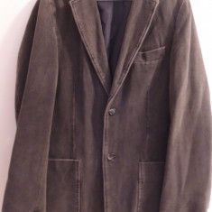 Sacou barbatesc Selected Men's Wear, casual - Sacou barbati, Marime: M, Culoare: Maro, 2 nasturi, Normal, Catifea