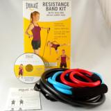 Everlast - set de 3 extensoare Pilates cu DVD pentru exercitii inclus - Extensor Fitness