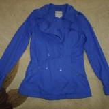 GEACA - Geaca dama, Marime: 38, Culoare: Bleu, Bleu, Bumbac