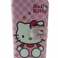 Toc flip alb husa Hello Kitty Iphone 5 5G + folie protectie ecran si spate + expediere gratuita