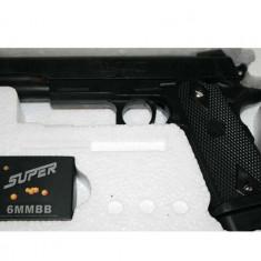 Arma Airsoft - PROMO.PLATESTI 1/PRIMESTI 2!Pistol airsoft, PROPULSIE ARC, LASER+1000 BILE BONUS.
