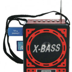 Radio cu MP3 intrare USB si card WAXIBA XB-916CU - MP3 player, 4GB, Rosu