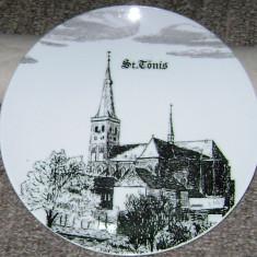 Farfurie - antica / decorativa / de colectie - portelan Bavaria - Schrobenhausen - 1980, Farfurii