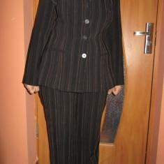 Costum de dama- sacou+pantaloni - Costum dama, Culoare: Maro