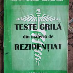 Carte Medicina - TESTE GRILA din materia de REZIDENTIAT - MEDVICHI Veronica si MEDVICHI Radu (Iasi, 2000)