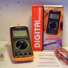 Multimetre - DT9208A-MULTIMETRU DIGITAL- Afisaj Electronic- MASOARA TEMPERATURA, AMPERMETRU, VOLTMETRU