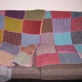 Patura crosetata manual 2m x 1,1 m / paturi tricotate - 6 bucati