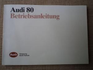 audi 80 betriebsanleitung vorsprung durch technik carte tehnica foto