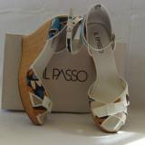 Sandale dama, Marime: 40, Din imagine - Sandale Il Passo din piele cu panza, cu platforma
