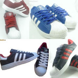 Adidas model super star !!! - Adidasi barbati, Marime: 40, 41, 42, 43, 44, Culoare: Alb, Albastru, Indigo, Negru, Visiniu