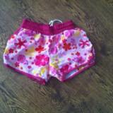 Pantaloni dama - Pantaloni scurti roz inflorati pentru plaja