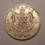 1 leu 1881 Detalii Frumoase - Moneda Romania