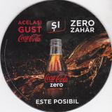 Cartonas de colectie - Suport de pahar / Biscuite COCA COLA ZERO