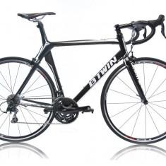 Bicicleta de oras, 28 inch, Numar viteze: 30, Carbon, Negru, Curbat(Risebar) - Bicicleta Btwin FC5 aproape noua