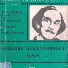 FABULE de GRIGORE ALEXANDRESCU (TEXTE COMENTATE) - Studiu literar