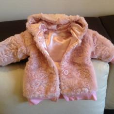 Geaca/blanita fetite cu gluga roz ff frumoasa 6 luni- 1 an George
