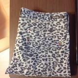 Pantaloni dama, Lungi, Marime: 40 - Jeans Animal Print Pull&Bear