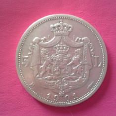 Monede Romania - 5 LEI 1901 SUPERBA-am si 1 leu 1901