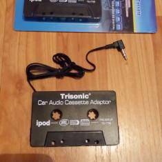Caseta adaptoare auto cu mufa jack pentru casetofon mp3 - CD Player MP3 auto