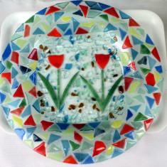 Centru de masa platou sticla Murano gen altorelief - Arta din Sticla