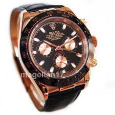 Ceas Barbatesc Rolex, Lux - elegant, Analog, Piele - Rolex Daytona Gold Automatic ! ! Cea Mai Buna Calitate ! Cutie Cadou ! ***
