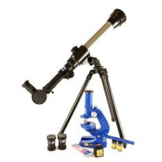 Pachet telescop si microscop de jucarie pentru copii - Jucarie interactiva